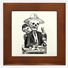 Calavera Tapatia Framed Tile