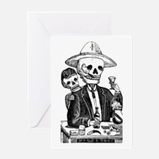 Calavera Tapatia Greeting Card