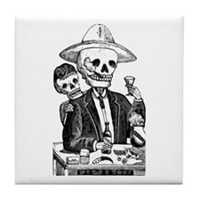 Calavera Tapatia Tile Coaster