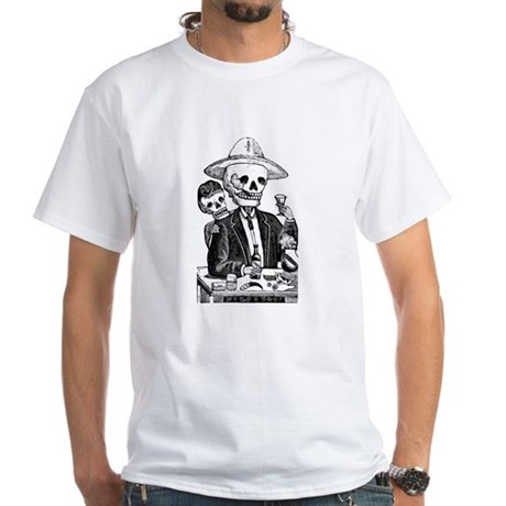 Calavera Tapatia White T-Shirt