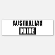 Australian pride Bumper Car Car Sticker
