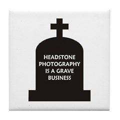 Grave Photography Tile Coaster