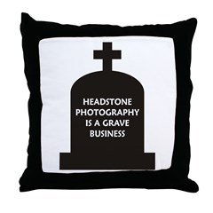 Grave Photography Throw Pillow