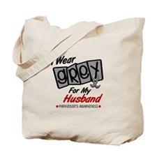 I Wear Grey For My Husband 8 PD Tote Bag