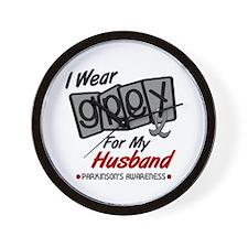 I Wear Grey For My Husband 8 PD Wall Clock