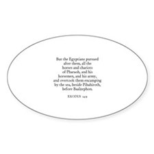 EXODUS 14:9 Oval Decal