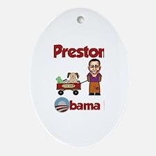 Preston - an Obama Kid Oval Ornament