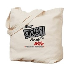 I Wear Grey For My Wife 8 PD Tote Bag