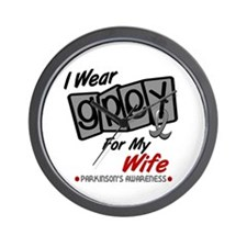I Wear Grey For My Wife 8 PD Wall Clock
