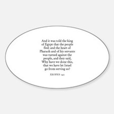 EXODUS 14:5 Oval Decal