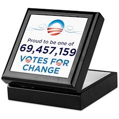 Obama: 69,457,159 Votes for C Keepsake Box