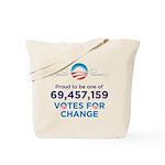Obama: 69,457,159 Votes for C Tote Bag