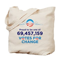 Obama: 69,457,159 Votes for C Tote Bag
