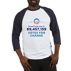 Obama: 69,457,159 Votes for C Baseball Jersey
