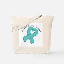 Ovarian Heart Survivor Tote Bag