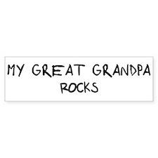Great Grandpa Rocks Bumper Bumper Sticker
