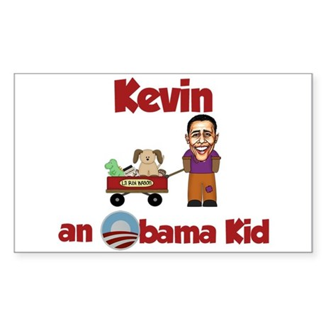 Kevin - an Obama Kid Rectangle Sticker