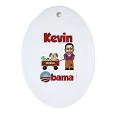 Kevin - an Obama Kid Oval Ornament