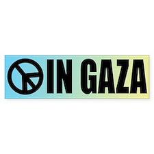 Peace in Gaza Bumper Bumper Sticker