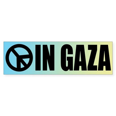 Peace in Gaza Bumper Sticker