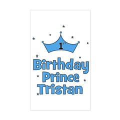 1st Birthday Prince Tristan Rectangle Decal