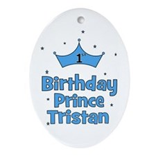 1st Birthday Prince Tristan Oval Ornament