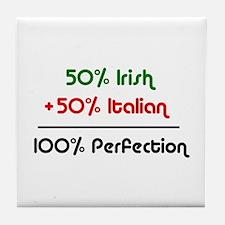 Half Italian, Half Irish Tile Coaster