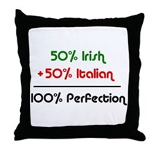 Half Italian, Half Irish Throw Pillow