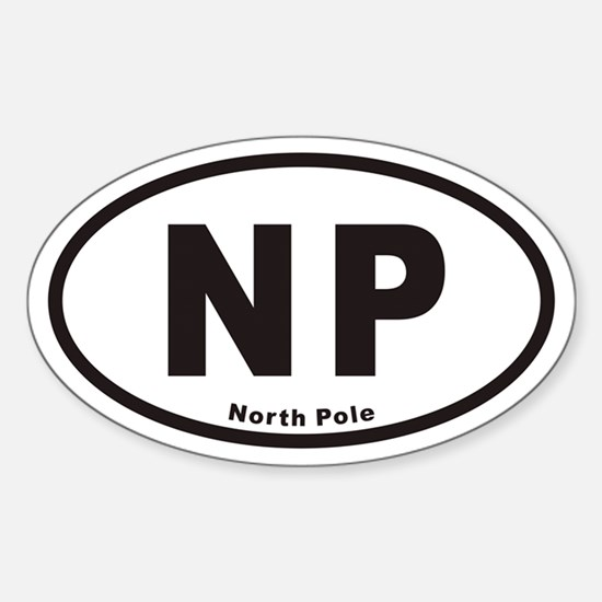 North Pole NP Euro Oval Decal