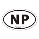 North Pole NP Euro Oval Sticker