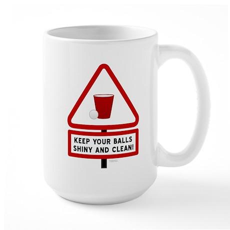 Keep Your Balls Clean Beer Pong Large Mug