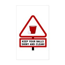 Keep Your Balls Clean Beer Pong Decal