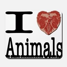 I Heart Animals Mousepad