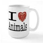 I Heart Animals Large Mug