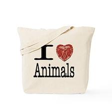 I Heart Animals Tote Bag
