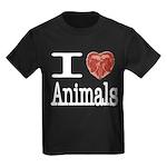 I Heart Animals Kids Dark T-Shirt