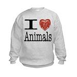 I Heart Animals Kids Sweatshirt