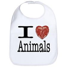 I Heart Animals Bib