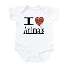 I Heart Animals Infant Bodysuit