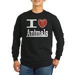 I Heart Animals Long Sleeve Dark T-Shirt