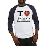 I Heart Animals Baseball Jersey