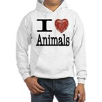 I Heart Animals Hooded Sweatshirt