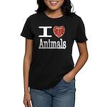 I Heart Animals Women's Dark T-Shirt