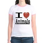 I Heart Animals Jr. Ringer T-Shirt