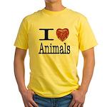 I Heart Animals Yellow T-Shirt