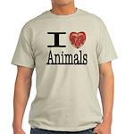 I Heart Animals Light T-Shirt