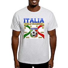 Italian T-Shirt Italia Soccer t-shirt Ash T-Shirt