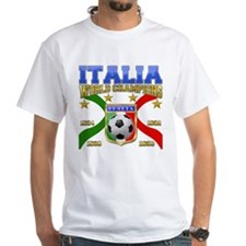 Italian T-Shirt Italia Soccer t-shirt White Tee