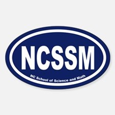 NCSSM Euro Oval Decal