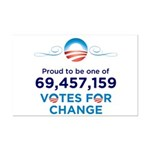 Obama: 69,457,159 Votes for Change Mini Poster